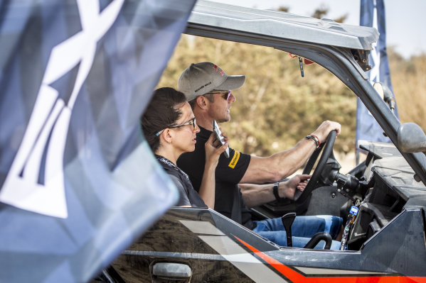 Cristina Gutierrez (ESP), X44, and Sebastien Loeb (FRA), X44
