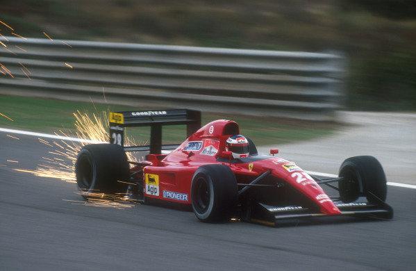 1991 Portuguese Grand Prix.Estoril, Portugal.20-22 September 1991.Jean Alesi (Ferrari 643) 3rd position.Ref-91 POR 09.World Copyright - LAT Photographic