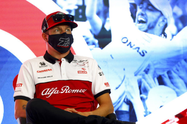 Kimi Raikkonen, Alfa Romeo in the press conference