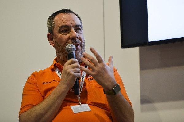 Richard Beard of Castle Combe gives a talks.