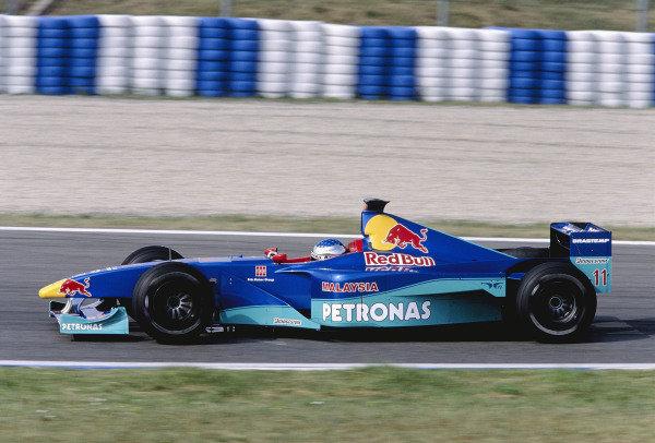 1999 Spanish Grand Prix.Catalunya, Barcelona, Spain. 28-30 May 1999.Jean Alesi (Sauber C18 Petronas).Ref-99 ESP 87.World Copyright - Gavin Lawrence/LAT Photographic