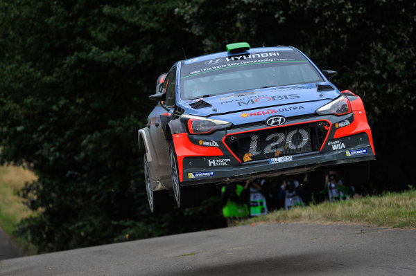2016 FIA World Rally Championship, Round 09, Rallye Deutschland 2016, August 18-21, 2016 Hayden Paddon, Hyundai, Action Worldwide Copyright: McKlein/LAT