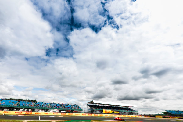 Silverstone, Northamptonshire, UK.  Friday 14 July 2017. Kimi Raikkonen, Ferrari SF70H. World Copyright: Glenn Dunbar/LAT Images  ref: Digital Image _31I3072