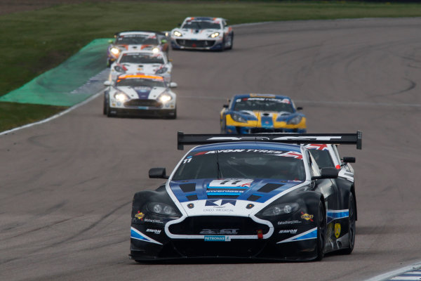 2015 British GT Championship, Rockingham, 2nd-3rd May 2015, Mark Farmer / Jon Barnes 22GT Racing Aston Martin Vantage GT3  Worl copyright. Jakob Ebrey/LAT Photographic