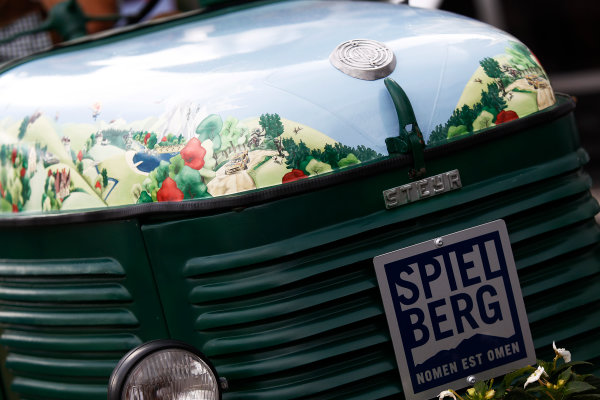 Red Bull Ring, Spielberg, Austria. Thursday 18 June 2015. A decorated tractor. World Copyright: Sam Bloxham/LAT Photographic. ref: Digital Image _G7C3060
