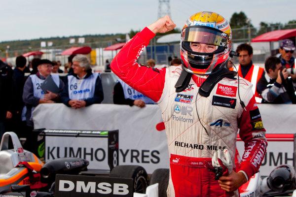 Dijon - Prenois, France. Sunday 11th October. Jules Bianchi (ART Grand Prix Dallara F308 / Mercedes) celebrates winning the 2009 Formula 3 Euro Series. World Copyright: Alastair Staley/LAT Photographic.Ref: _O9T9678 jpg