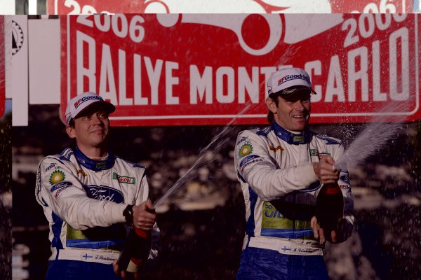 2006 FIA World Rally Champs. Round One, Monte Carlo Rally.19th - 22nd January 2006.Marcus Gronholm, Ford, podium.World Copyright: McKlein/LAT