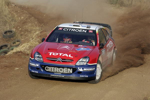 2005 FIA World Rally Champs. Round eightAcropolis Rally 23rd - 26th June 2005 Sebastien Loeb, Citroen, Action World Copyright: McKlein/LAT