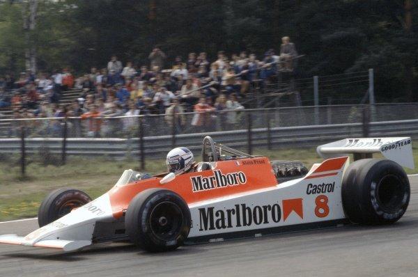1980 Belgian Grand Prix.Zolder, Belgium. 2-4 May 1980.Alain Prost (McLaren M29-Ford Cosworth), retired.World Copyright: LAT PhotographicRef: 35mm transparency 80BEL14