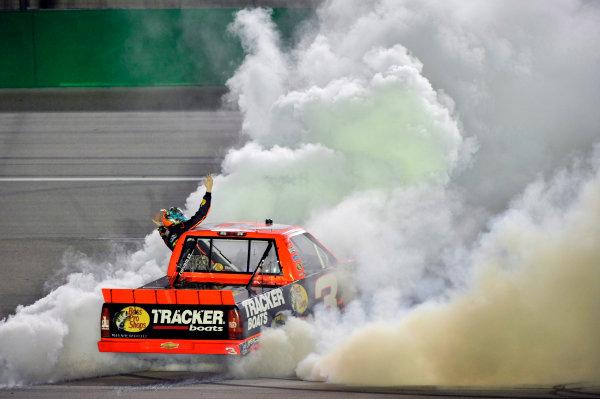 27 June, 2013, Sparta, Kentucky USA Ty Dillon celebrates his win with a burnout ©2013, Nigel Kinrade LAT Photo USA