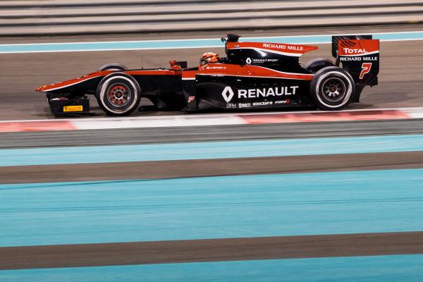 2017 FIA Formula 2 Test 3. Yas Marina Circuit, Abu Dhabi, United Arab Emirates. Saturday 2 December 2017. Jack Aitken (GBR, ART Grand Prix).  Photo: Zak Mauger/FIA Formula 2. ref: Digital Image _O3I6390