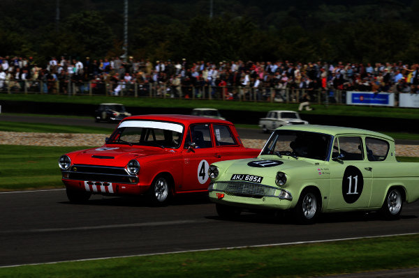 2015 Goodwood Revival Meeting Goodwood Estate, West Sussex, England 11th - 13th September 2015 St Mary's Trophy Part 1 Mat Jackson Cortina Jochen Mass Galaxie  World Copyright : Jeff Bloxham/LAT Photographic Ref : Digital Image DSC_8856