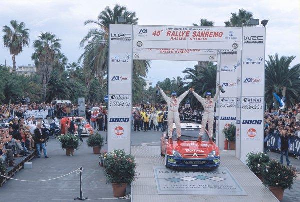 2003 World Rally ChampionshipRally of San Remo, Italy. 2nd - 5th October 2003.Sebastien Loeb / Daniel Elena, Citroen Xsara.World Copyright: McKLEIN/LATref: 35mm Image WRCSANREMO12 jpg