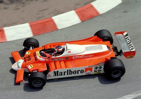 1980 Monaco Grand Prix.Monte Carlo, Monaco.15-18 May 1980.Patrick Depailler (Alfa Romeo 179).Ref-80 MON 33.World Copyright - LAT Photographic