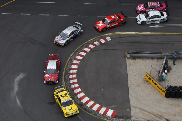 David Coulthard (GBR), AMG Mercedes, AMG Mercedes C-Klasse (2008), Martin Tomczyk (GER), Audi Sport Team Abt Sportsline, Red Bull Cola Audi A4 DTM (2009), Mike Rockenfeller (GER), Audi Sport Team Phoenix, S line Audi A4 DTM (2008), CongFu Cheng (CHN), stern AMG Mercedes, stern AMG Mercedes C-Klasse (2008).DTM, Rd4, Norisring, Nuremberg, Germany. 2-4 July 2010 World Copyright: LAT PhotographicRef: Digital Image dne1004jy617