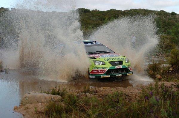 FIA World Rally Championship, Rd 6.May 15-18, 2008Rally d'Italia Sardegna, Olbia, Sardinia, ItalyDay Three, Sunday May 18, 2008.Mikko Hirvonen (FIN) on Stage 14.DIGITAL IMAGEFIA World Rally Championship, Rd6, Rally d'Italia Sardegna, Sardinia, Italy, Day Three, Sunday 18 May 2008.