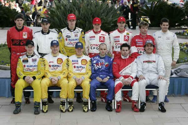2005 FIA World Rally ChampionshipRound 1, Monte Carlo Rally. 20th - 23rd January 2005.Junior WRC driver line up, portrait.World Copyright: McKlein/LAT Photographic.ref: Digital image.