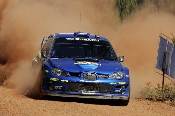 2006 FIA World Rally Champs. Round 6Rally Australia 26-29 October 2006Petter Solberg, Subaru, actionWorld Copyright: McKlein/LAT