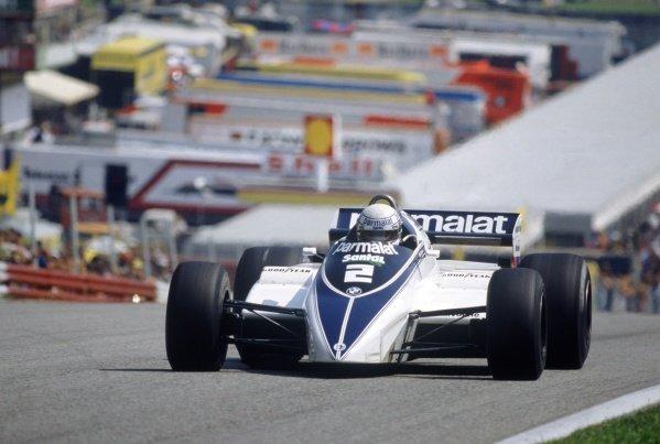 1982 Austrian Grand Prix.Osterreichring, Austria. 15 August 1982.Riccardo Patrese, Brabham BT50-BMW, retired, action.World Copyright: LAT PhotographicRef: 35mm transparency 82AUT