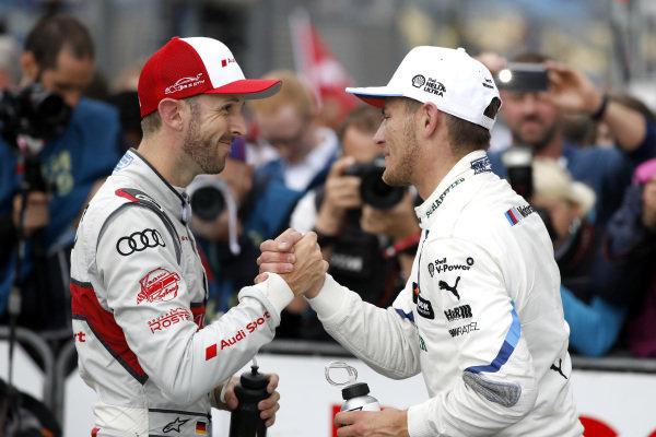 René Rast, Audi Sport Team Rosberg and Marco Wittmann, BMW Team RMG.