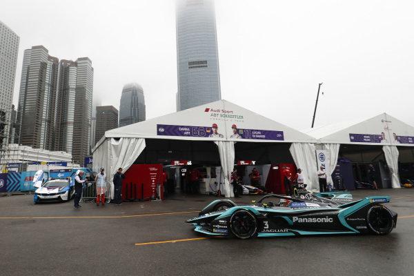 Nelson Piquet Jr. (BRA), Panasonic Jaguar Racing, Jaguar I-Type 3 heads down the pit lane