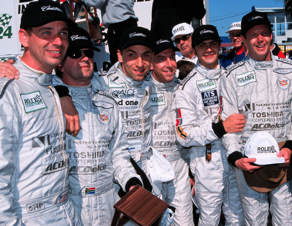 2000 Rolex 24 at Daytona. February 5-6, 2000Daytona International Speedway, Florida USA.The Cadillac drivers. -2000, Michael L. Levitt, USALAT PHOTOGRAPHIC