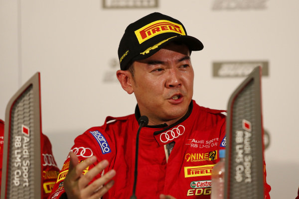 Andrew Haryanto (IDN) ProMax Team during press conference after Race 1 at Audi R8 LMS Cup, Rd1 and Rd2, Adelaide, Australia, 2-4 March 2018.