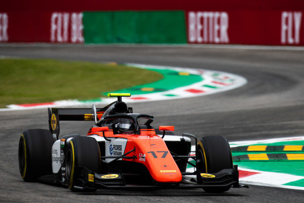 AUTODROMO NAZIONALE MONZA, ITALY - SEPTEMBER 06: Mahaveer Raghunathan (IND, MP MOTORSPORT) during the Monza at Autodromo Nazionale Monza on September 06, 2019 in Autodromo Nazionale Monza, Italy. (Photo by Joe Portlock / LAT Images / FIA F2 Championship)