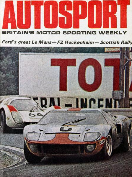 Cover of Autosport magazine, 20th June 1969