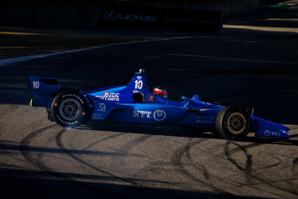 Felix Rosenqvist, Chip Ganassi Racing Honda spins