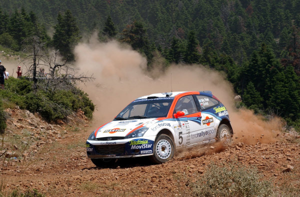 World Rally Championship, Acropolis Rally, June 13-16, 2002.Colin McRae on stage 3.Photo: Ralph Hardwick/LAT