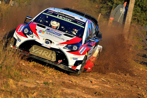 Juho Hanninen (FIN) / Kaj Lindstrom (FIN), Toyota Gazoo Racing Toyota Yaris WRC at World Rally Championship, Rd5, Rally Argentina, Preparations and Shakedown, Villa Carlos Paz, Cordoba, Argentina, 27 April 2017.