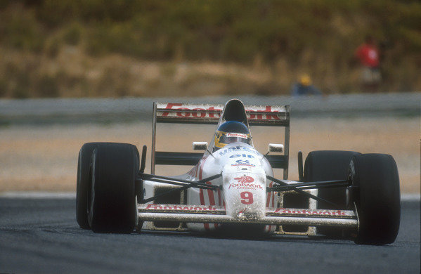1990 Portuguese Grand Prix.Estoril, Portugal.21-23 September 1990. Michele Alboreto (Arrows A11B Ford) 9th position.Ref-90 POR 06.World Copyright - LAT Photographic