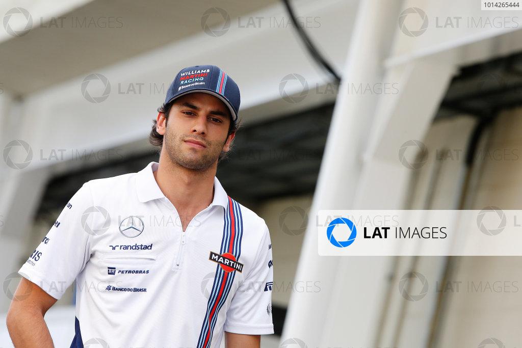 Interlagos, Sao Paulo, Brazil. Friday 7 November 2014. Felipe Nasr, Test and Reserve Driver, Williams F1. World Copyright: Charles Coates/LAT Photographic. ref: Digital Image _J5R3191