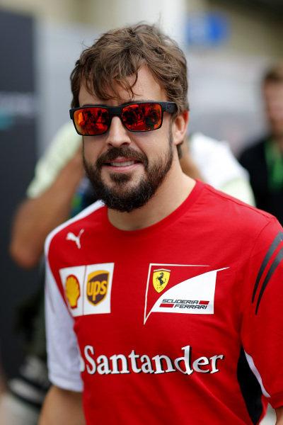 Fernando Alonso (ESP) Ferrari. Formula One World Championship, Rd18, Brazilian Grand Prix, Qualifying, Sao Paulo, Brazil, Saturday 8 November 2014.