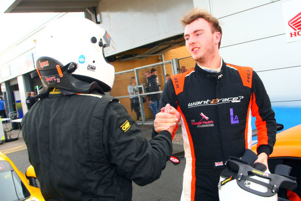 2017 Ginetta Racing Drivers Club+ Championship, Donington Park, Leicestershire. 23rd - 24th September 2017. Rob Keogh and Jack Oliphant. World Copyright: JEP/LAT Images
