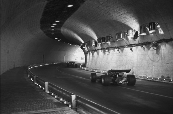 1970 Monaco Grand Prix. Monte Carlo, Monaco. 7 - 10 May 1970. Cars pass through the tunnel at speed, action.  World Copyright: LAT Photographic. Ref: L70 - 422 - 6A.