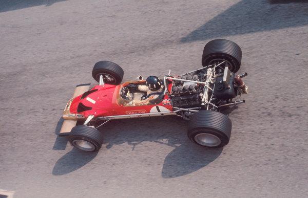 1969 Monaco Grand Prix. Monte Carlo, Monaco. 15-18 May 1969. Graham Hill (Lotus 49B Ford) 1st position. Ref-69 MON 14. World Copyright - LAT Photographic