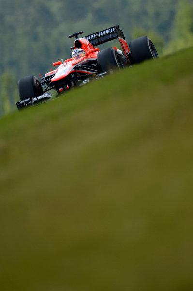 Jules Bianchi (FRA) Marussia F1 Team MR02. Formula One World Championship, Rd9, German Grand Prix, Qualifying, Nurburgring, Germany, Saturday 6 July 2013.