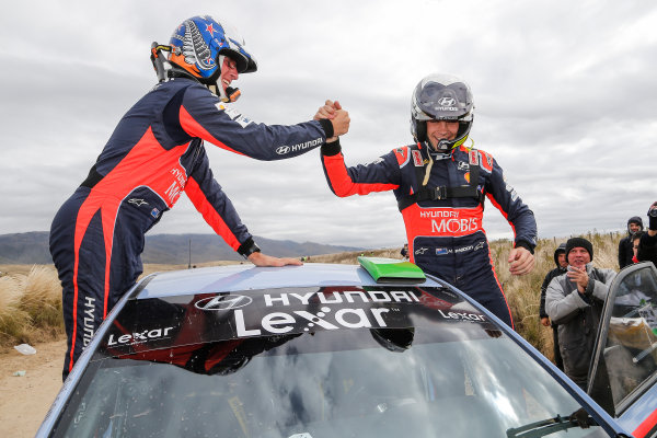 2016 FIA World Rally Championship, Round 04, Rally Argentina, April 21-24, 2016 Hayden Paddon, Hyundai, winner  Worldwide Copyright: McKlein/LAT