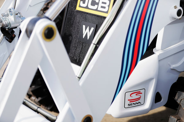 Williams 40 Event Silverstone, Northants, UK Friday 2 June 2017. A Williams-branded JCB. World Copyright: Zak Mauger/LAT Images ref: Digital Image _54I9920