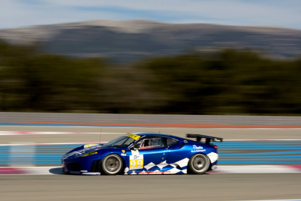 Circuit Paul Ricard, France. 8th March 2009. Ben Aucott / Stephane Daoudi, (JMB Racing) Ferrari 430 GT. Action. World Copyright: Drew Gibson/LAT Photographic.ref: Digital Image DG0_2772