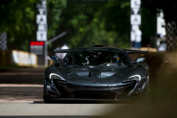 2016 Goodwood Festival of Speed Goodwood Estate, West Sussex, England. 23rd - 26th June 2016. Kenny Brack McLaren P1 LM World Copyright : Al Staley / LAT Photographic Ref : 585A0910