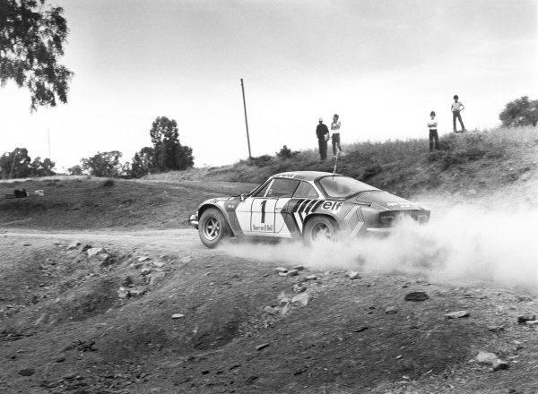 1973 World Rally ChampionshipMorocco Rally, 8th - 13th May.Bernard Darniche takes the Alpine-Renault A110 to its third win of the year. Action.World Copyright: LAT Photographic.ref: 5322/35A (60mb Scan)