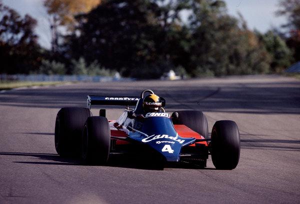 1980 United States Grand Prix East.Watkins Glen, New York, USA.3-5 October 1980.Derek Daly (Tyrrell 010 Ford).Ref-80 USA 23.World Copyright - LAT Photographic