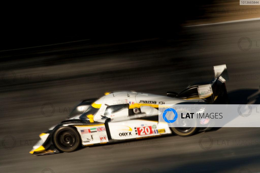 American Le Mans Series. Laguna Seca, Monterey, California. 15th - 17th September 2011. Humaid Al Masaood / Steven Kane, Oryx Dyson Racing, Lola B09/86. Action. Photo: Drew Gibson/LAT Photographic. ref: Digital Image _Y8P4476