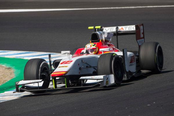 2017 FIA Formula 2 Round 10. Circuito de Jerez, Jerez, Spain. Sunday 8 October 2017. Alex Palou (JPN, Campos Racing).  Photo: Andrew Ferraro/FIA Formula 2. ref: Digital Image _FER3594