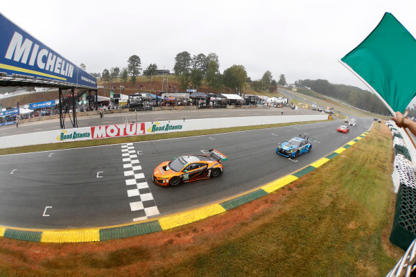 IMSA WeatherTech SportsCar Championship Motul Petit Le Mans Road Atlanta, Braselton GA Saturday 7 October 2017 86, Acura, Acura NSX, GTD, Oswaldo Negri Jr., Jeff Segal, Tom Dyer, start World Copyright: Michael L. Levitt LAT Images