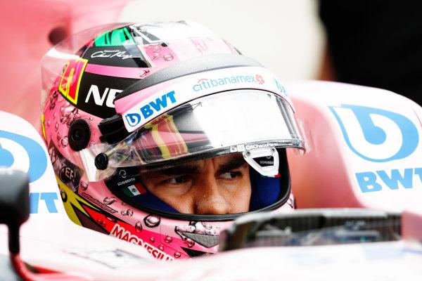 Suzuka Circuit, Japan. Saturday 07 October 2017. Sergio Perez, Force India VJM10 Mercedes. World Copyright: Glenn Dunbar/LAT Images  ref: Digital Image _31I6792