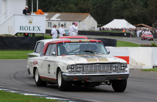 2015 Goodwood Revival Meeting Goodwood Estate, West Sussex, England 11th - 13th September 2015 St Mary's Trophy Part 2 Henry Mann Ford Fairlane Thunderbolt World Copyright : Jeff Bloxham/LAT Photographic Ref : Digital Image DSC_0256